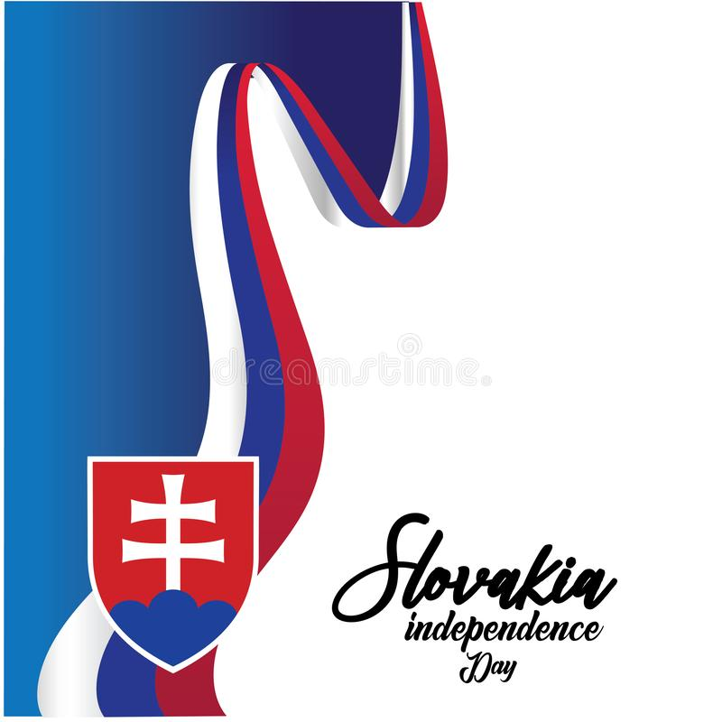 Slovakia Independence Day Vector Template Design Illustration - Vector royalty free illustration