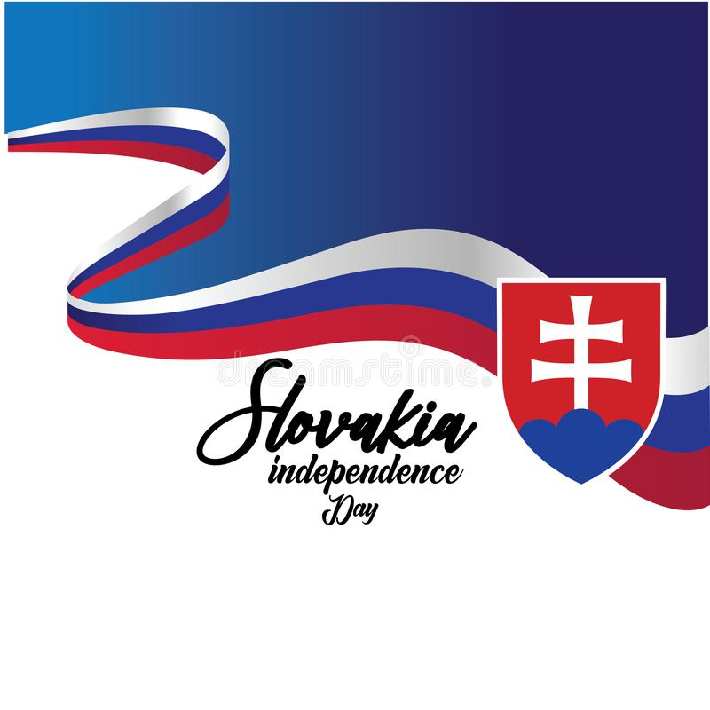 Slovakia Independence Day Vector Template Design Illustration - Vector stock illustration