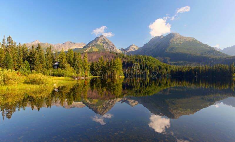 Slovakia Mountain Lake in Tatra - Strbske Pleso royalty free stock images