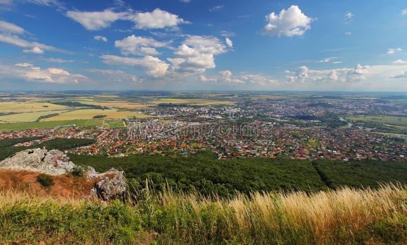 Slovakia - Nitra city from Zobor peak royalty free stock images