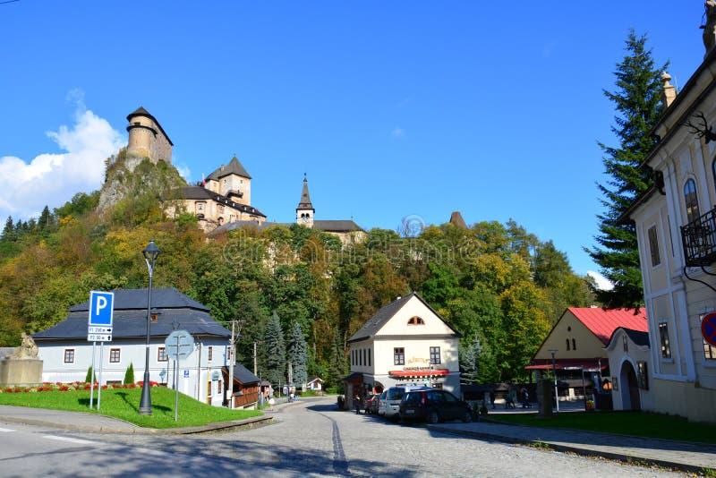 slovakia Orava slott royaltyfri foto