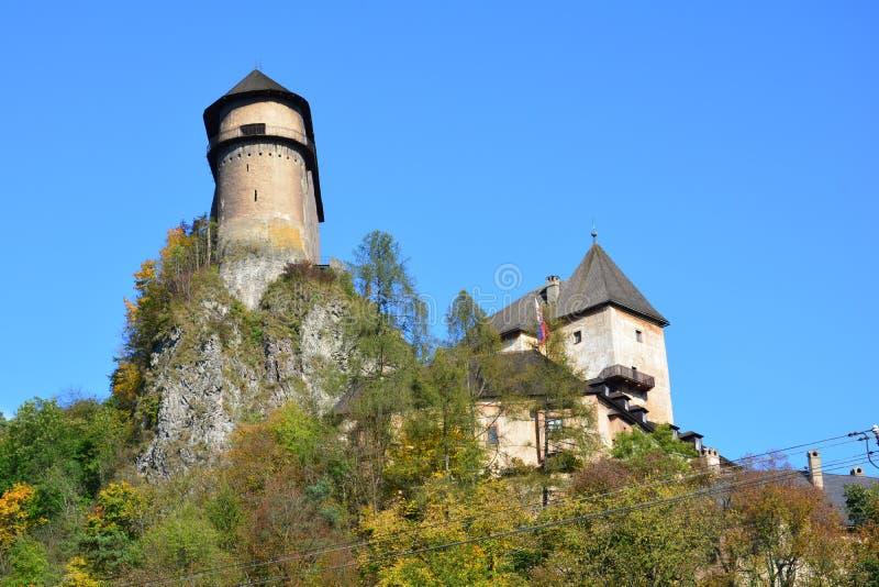 slovakia Orava slott royaltyfri bild