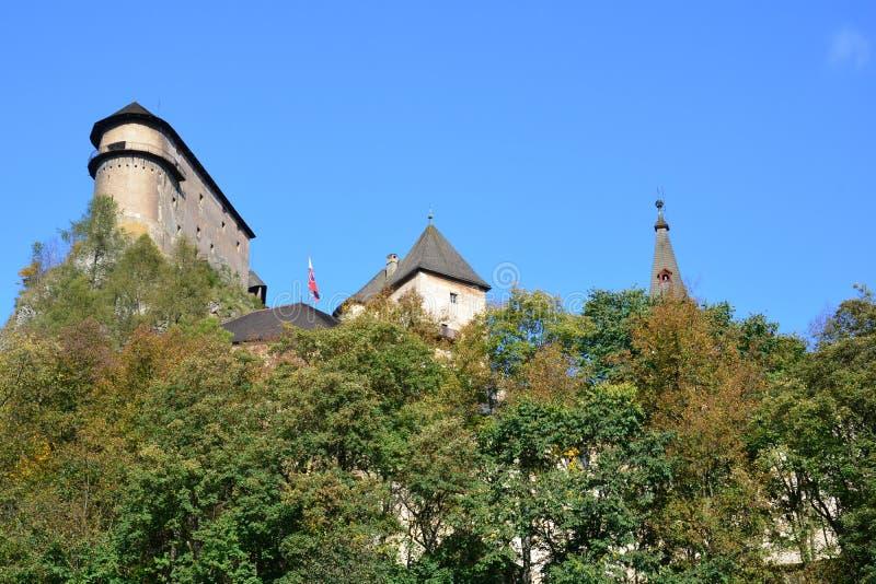 slovakia Orava slott arkivbild