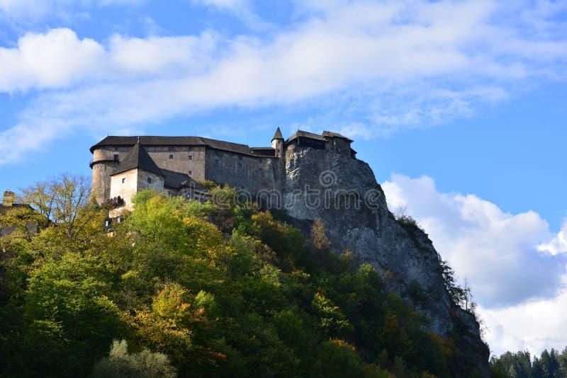 slovakia Orava slott royaltyfria foton