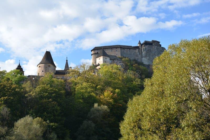 slovakia Orava slott royaltyfria bilder