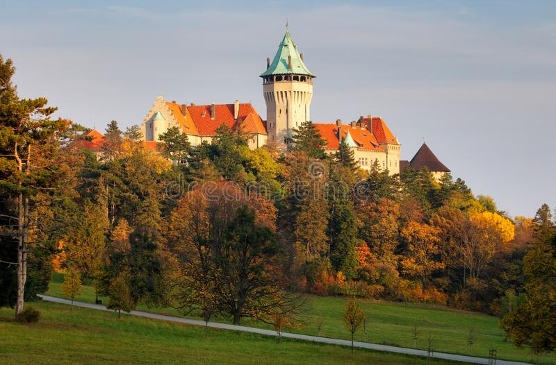 Slovakia - Smolenice castle in autumn royalty free stock photos