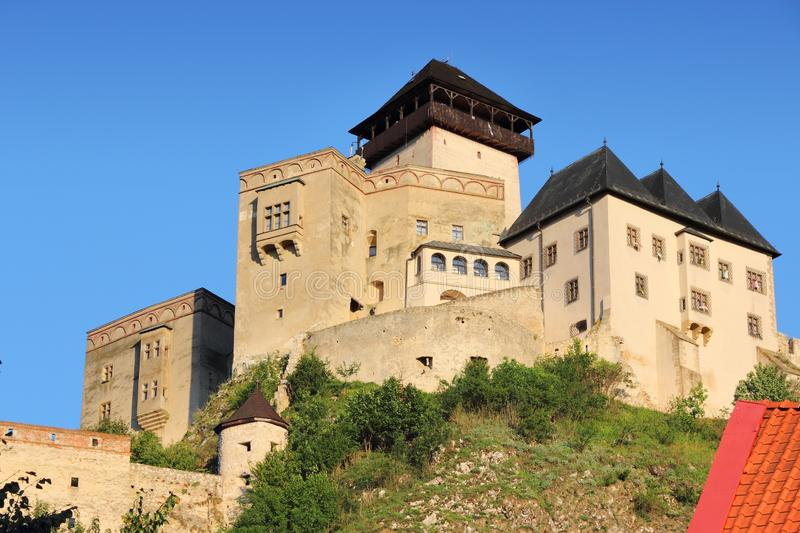 Slovakia - Trencin Castle royalty free stock photo