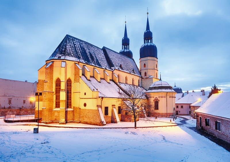 Slovakia - Trnava city. At winter royalty free stock photo