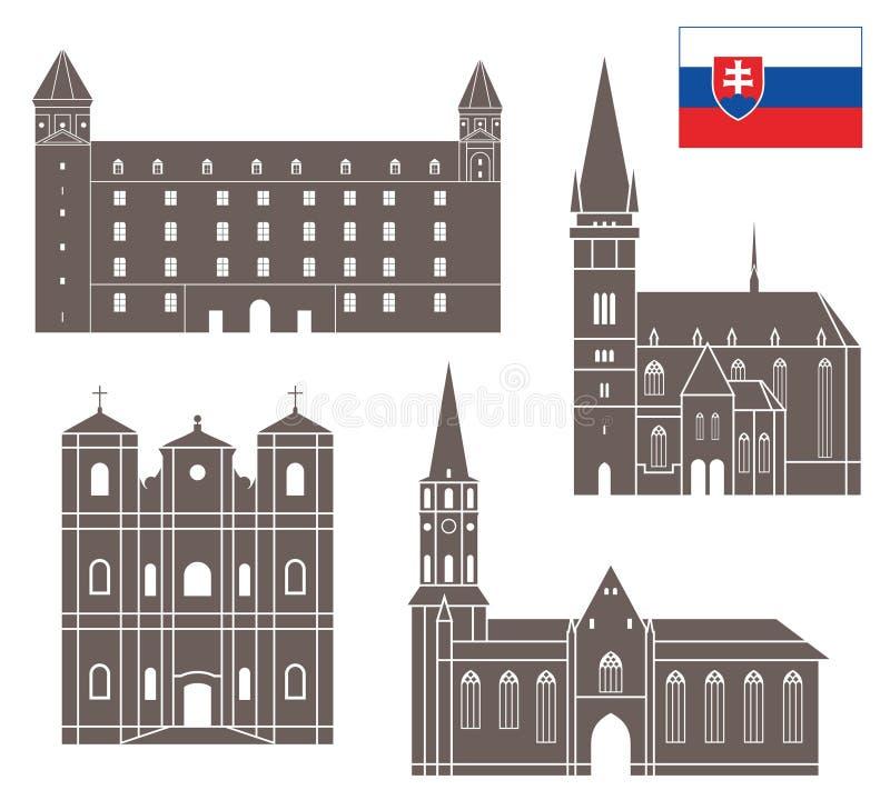slovakia Uppsättning stock illustrationer