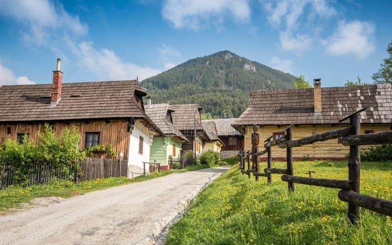 slovakia vlkolinec En Unesco-arvby fotografering för bildbyråer