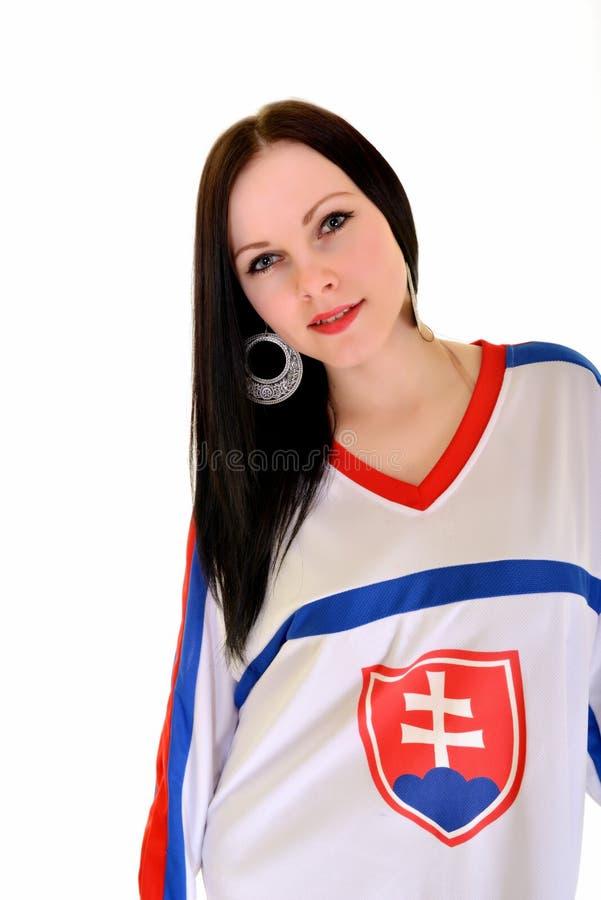 Slovakian Fan. Slovakian Hockey Fan Studio Portrait stock photos