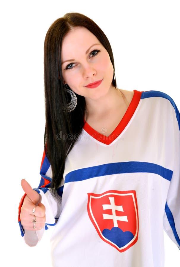 Slovakian Fan. Slovakian Hockey Fan Studio Portrait royalty free stock photography