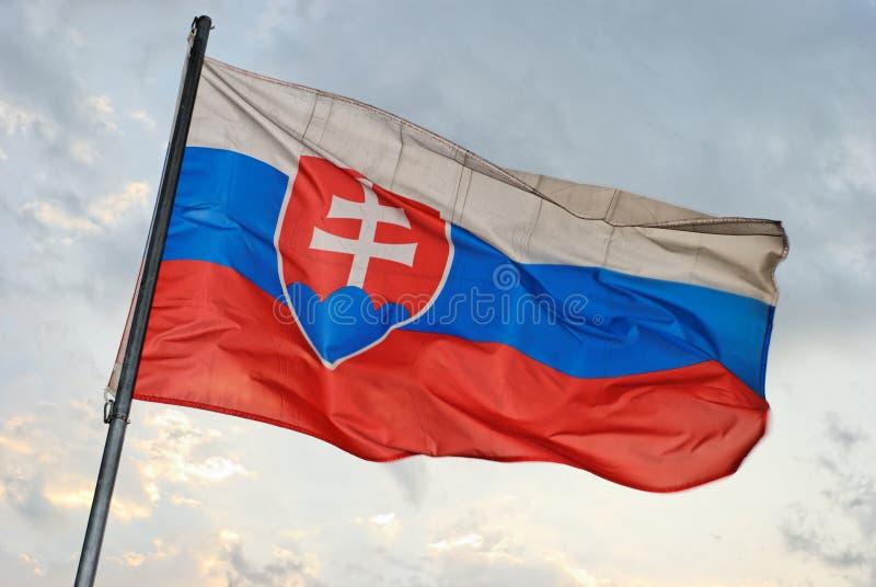 Slovakian Flag stock photography