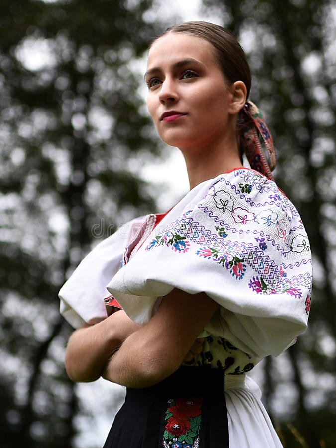 Download Slovakian folklore woman stock photo. Image of dancer - 78390818