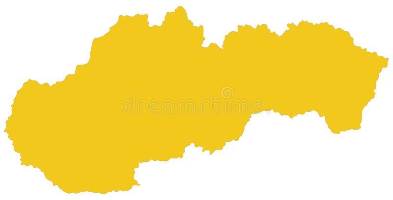 Slovakien översikt - land i Centraleuropa stock illustrationer