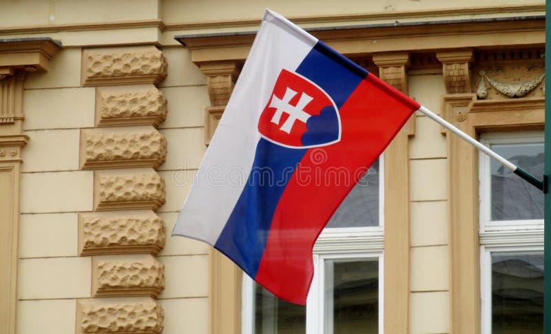 Slovakien flagga royaltyfria foton