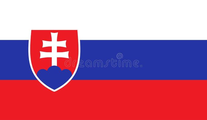 Slovakien flaggabild vektor illustrationer