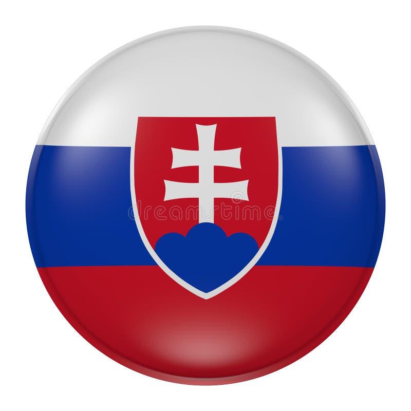 Slovakien knapp vektor illustrationer