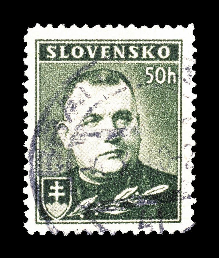 Slovakien på portostämplar royaltyfri bild
