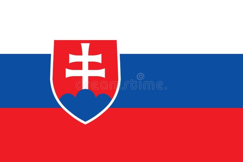 Slovakien vektorflagga proportions den official originalen f?r flaggan slovakia brat vektor illustrationer