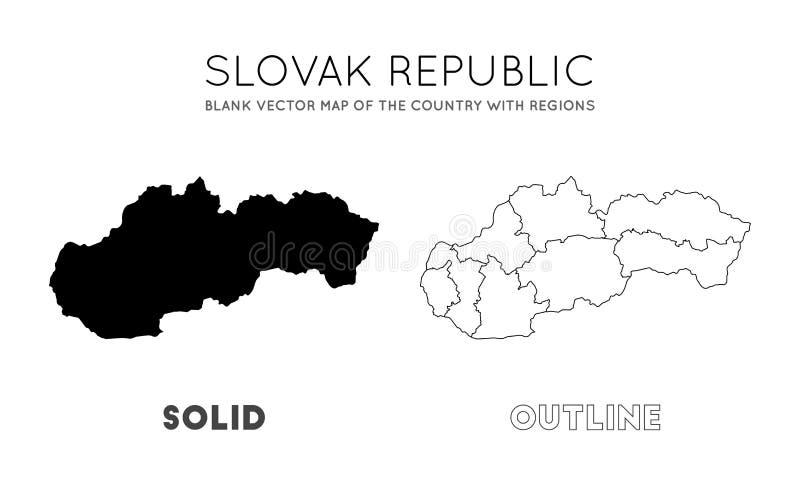 Slovakien ?versikt stock illustrationer
