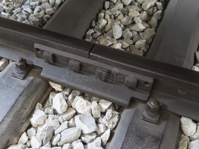 Sloveens spoorwegdetail stock afbeelding