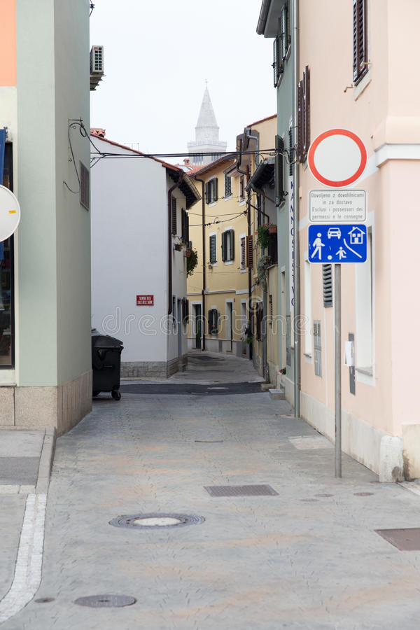 Slovenië, de oude stad van Koper royalty-vrije stock afbeelding