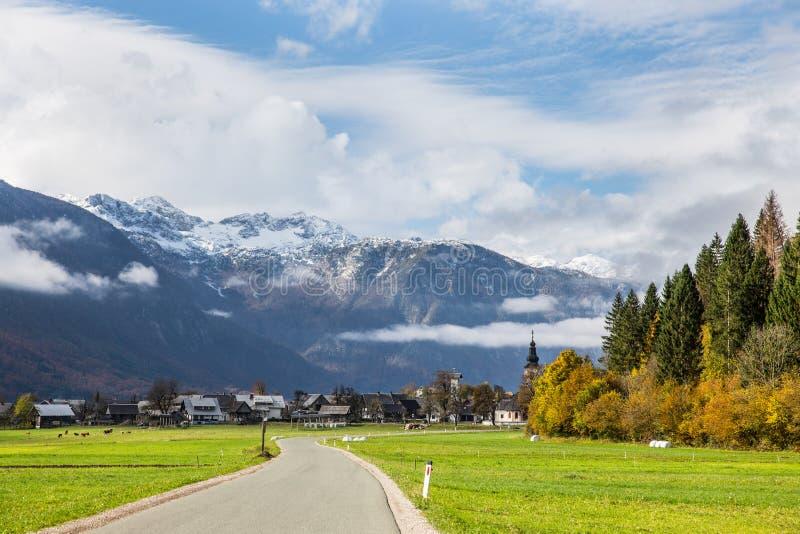 Slovenië - Stara Fuzina Triglav - Landschap royalty-vrije stock fotografie