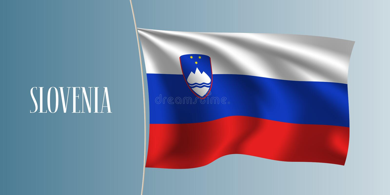 Slovenia falowania flaga wektoru ilustracja ilustracja wektor