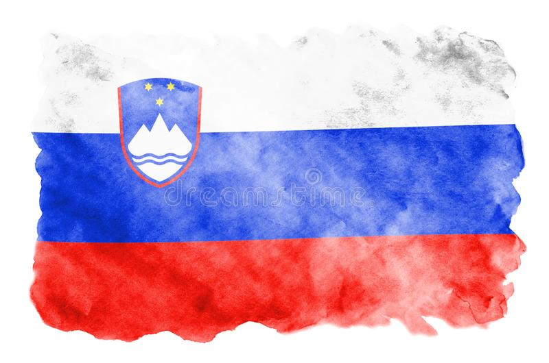The Proud Flag of Slovenia! Large organic tote bag Hand Painted Brush Stroke Design of the Slovenian Flag