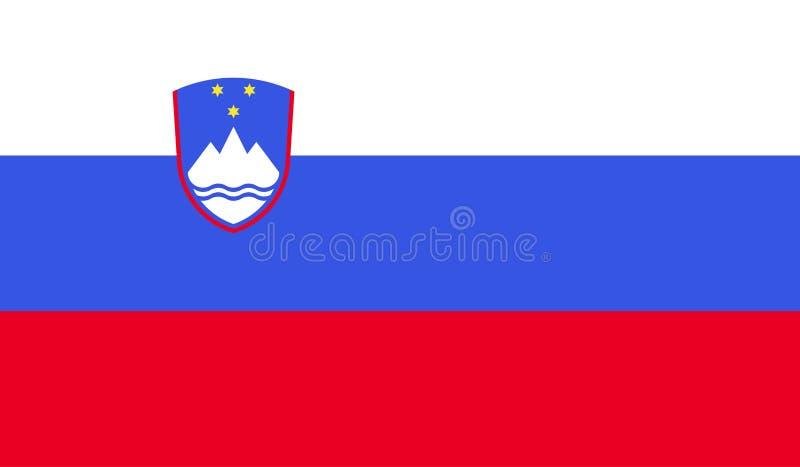 Slovenia flag image royalty free illustration