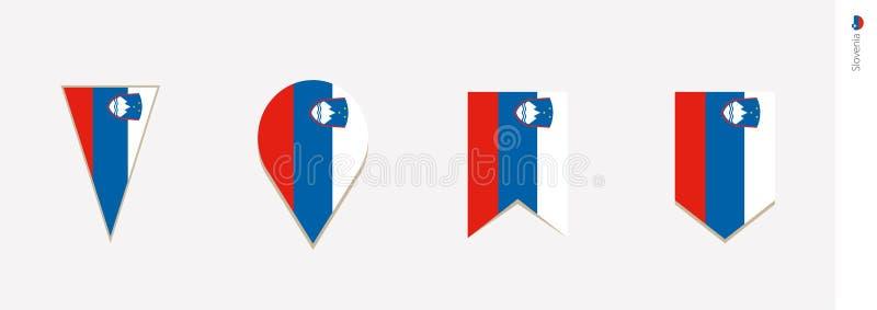 Slovenia flaga w pionowo projekcie, wektorowa ilustracja ilustracji
