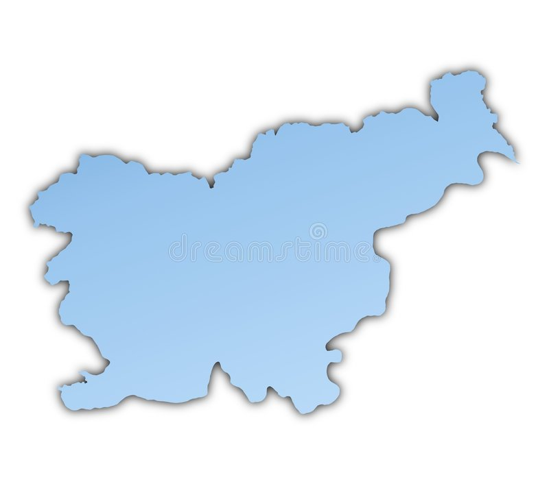 Download Slovenia map stock illustration. Illustration of metal - 7284311