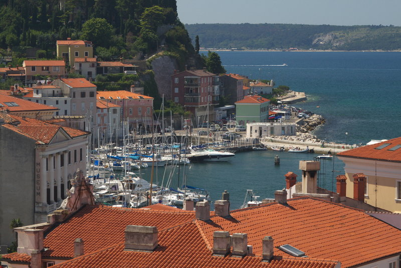 Slovenian city of Piran stock photo