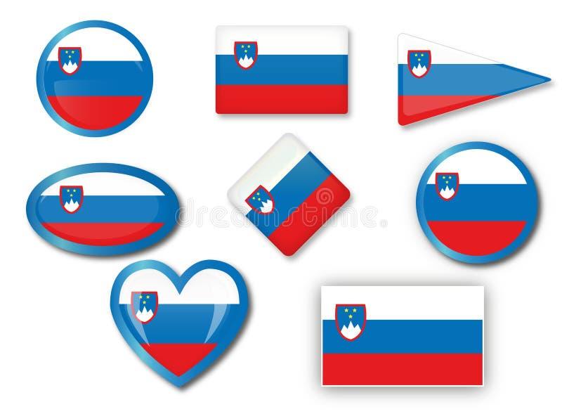 Slovenian flag stock illustration