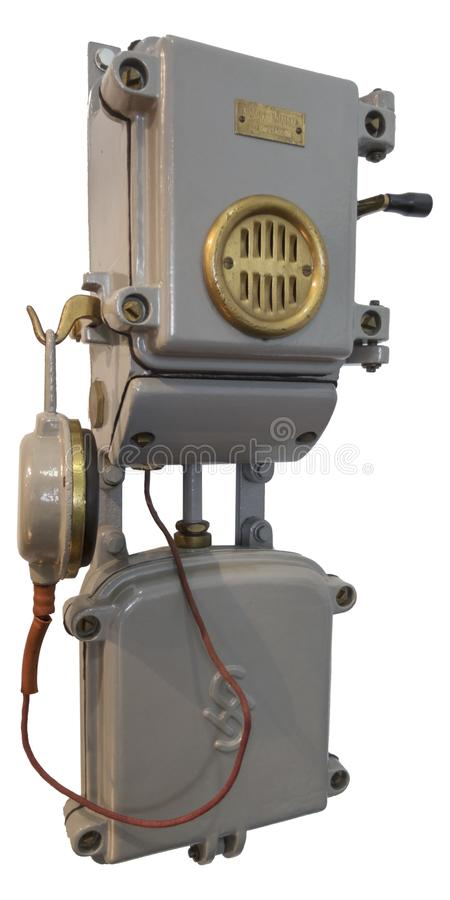 Slovenian railway telephone from 19 century. Made by Siemens royalty free stock photos