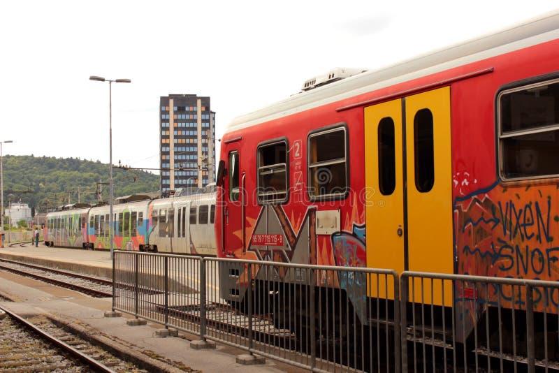 Slovenian railways royalty free stock image