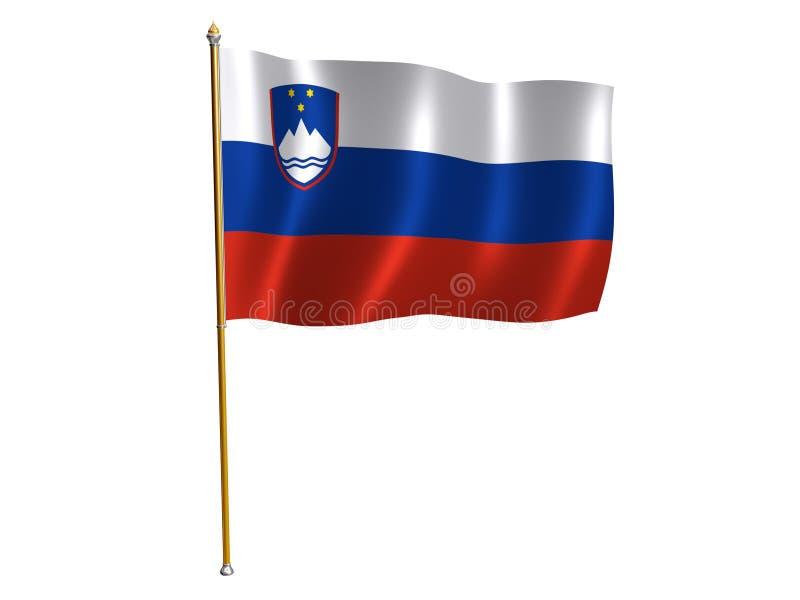 Slovenian silk flag. Silk flag of Slovenia royalty free illustration