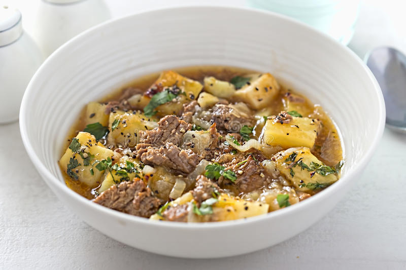 Slow cooked beef in gravy royalty free stock photos