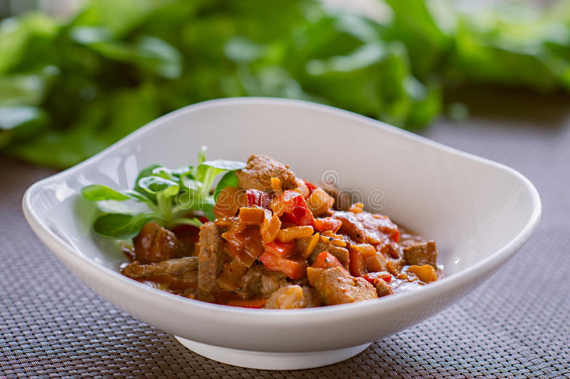 Slow Cooked Beef Stew with Vegetables, healthy meal stock images