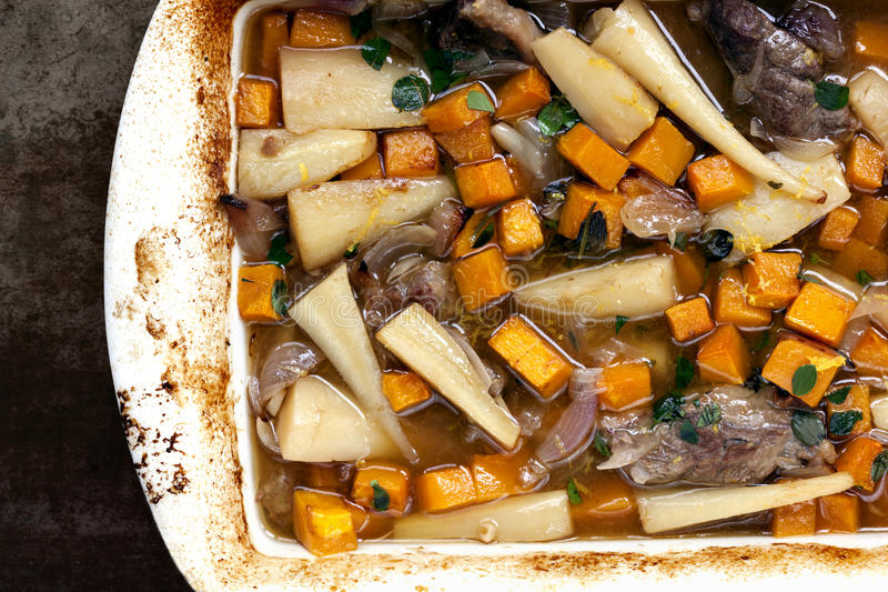 Slow-Cooked Lamb Casserole royalty free stock photography