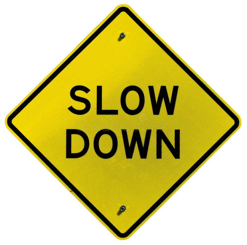 Download Slow Down stock image. Image of diamond, traffic, road - 26487869