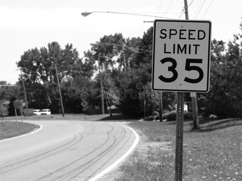 Slow Down... (B&W) stock photos