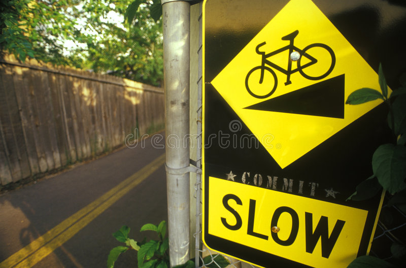 Download Slow Down Bicycle Safety stock image. Image of danger - 1446993