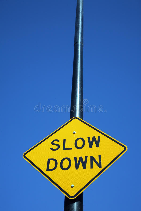 Free Slow Down Sign Stock Images - 15041664
