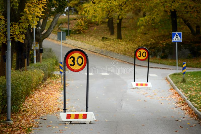 Slow down signs royalty free stock images