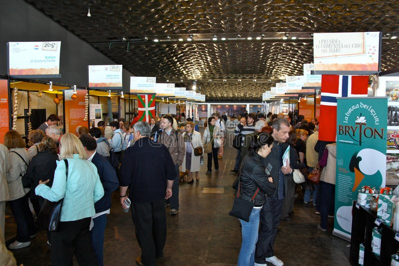 Slow Fish 2009, Genoa, Italy. Event: Slow Fish 2009, 4th edition Place: Genoa, Italy Date: from 17th to 20th April, 2009 Organised by Slow Food, Slow Fish, is an stock photos