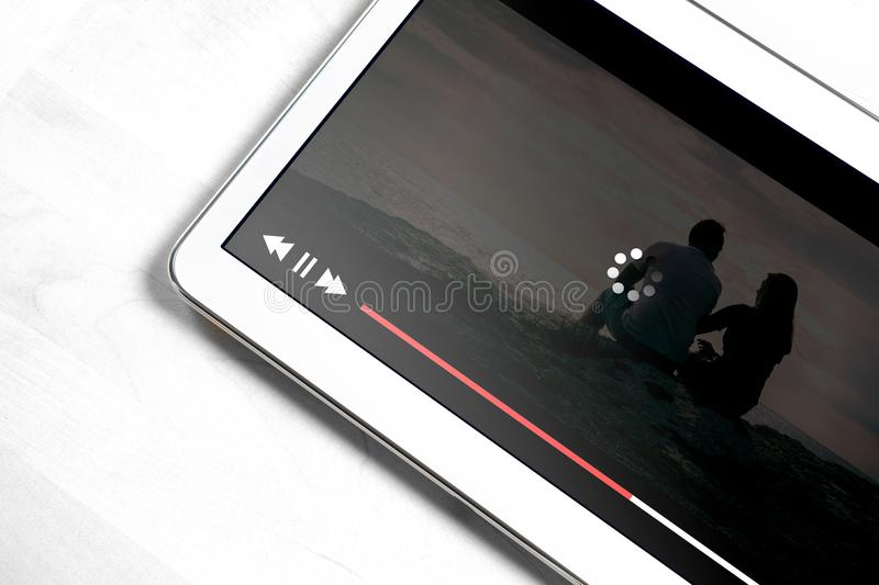 Slow internet connection. Bad online movie streaming service. royalty free stock images
