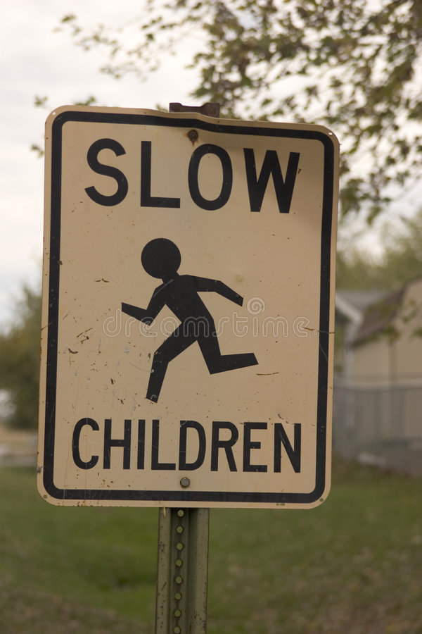 Download Slow Kids stock photo. Image of slow, signpost, careful - 36760