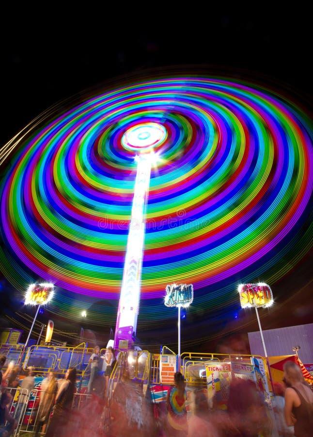 Fair ride at night royalty free stock image